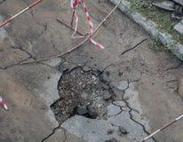 Furo do asfalto Fotos de Stock Royalty Free