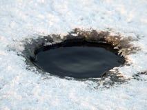 Furo do gelo Fotos de Stock