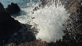 Furo do sopro do Oceano Pacífico na praia do carriker do Mac fotos de stock royalty free