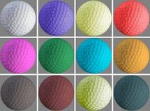 Furo e bola do golfe Imagens de Stock Royalty Free