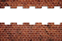 Furo em uma parede de tijolo ilustração stock