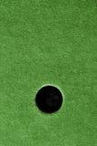Furo louco do campo de golfe com grama artificial. imagens de stock