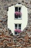 Furo na parede de tijolo Imagem de Stock Royalty Free