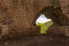 furo na parede, fortaleza de Anakopia Imagens de Stock