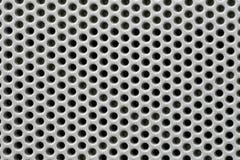 furo na superfície de metal de prata Fotos de Stock