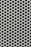 furo na superfície de metal de prata Imagens de Stock