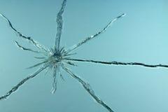 Furo no vidro Imagem de Stock Royalty Free