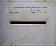 Furo para letras Foto de Stock Royalty Free