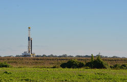 Furo para o gás natural Fotografia de Stock