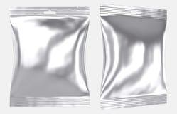 Furo plástico do entalhe do saco do descanso da folha vazia ilustração royalty free