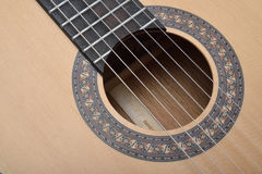Furo sadio da guitarra clássica Fotografia de Stock Royalty Free