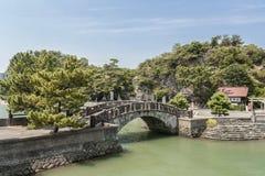 Furobashi gammal bro i Wakaura, Wakayama, Japan Fotografering för Bildbyråer