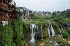 Furong (Hibiscus) ancient village Royalty Free Stock Photography