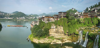 Furong (Hibiscus) ancient village Royalty Free Stock Image