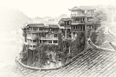 Furong zhen. Is ancient vilage in Huna province, China Royalty Free Stock Photo