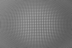 furos da forma 3D no painel metálico Imagens de Stock