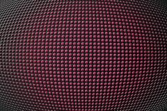 furos da forma 3D no painel metálico Imagem de Stock