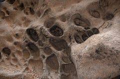 Furos na parede da caverna Imagens de Stock Royalty Free