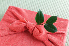 Furosiki, japanese silk wrapping cloth Stock Images