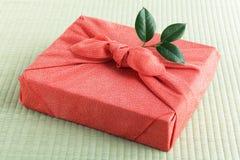 Furosiki, paño de embalaje de seda japonés fotografía de archivo