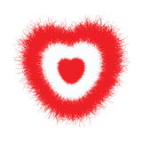 Furred heart Stock Image