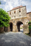 Furrier's tower (Turnul Cojocarilor) part of  Sighisoara fortres Royalty Free Stock Images
