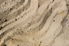Furrow on sand Stock Photos
