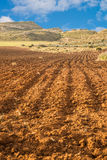 Furrowed farmland Stock Images