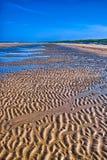 Furrows in the beach, North Sea, Zandvoort near Amsterdam, Holla Stock Photo