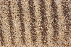 Furrows on coarse sand. Stock Image