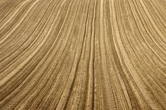 Furrows on the field Royalty Free Stock Photography