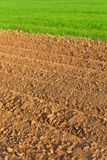 Furrows in spring Royalty Free Stock Photo
