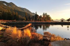 Furry Creek at sunset Stock Photography