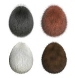 Furry Easter Eggs Royalty Free Stock Photo