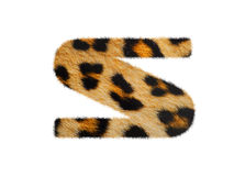 Furry font made of leopard skin texture. Royalty Free Stock Images