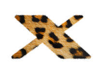 Furry font made of leopard skin texture. Stock Photography