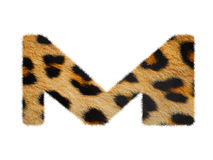 Furry font made of leopard skin texture. Stock Image
