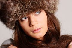 Furry hat Stock Photos