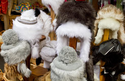 Furry hats Stock Photos