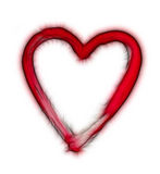 Furry heart - symbol of love Stock Images