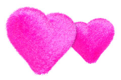 Furry hearts Stock Photos