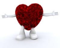 furry hjärta för dude stock illustrationer
