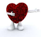 furry hjärta för dude royaltyfri illustrationer