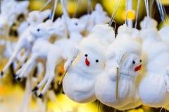 Furry little Snowmen Stock Images