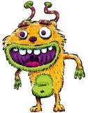 furry lyckligt monster Arkivbild