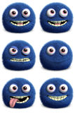 Furry monster. 3d cartoon cute furry monster Stock Photo