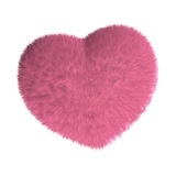 Furry pink heart Stock Photo