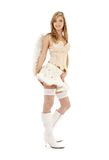 Furry skirt angel Royalty Free Stock Images