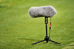Furry sport microphone Stock Photos