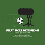 Furry Sport Microphone Royalty Free Stock Image
